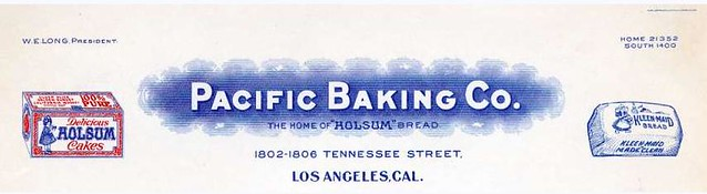 Pacific Baking Co. Letterhead