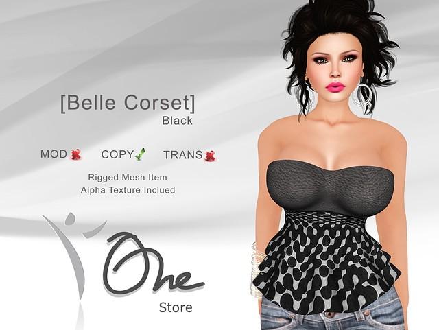 [Belle Corset] Black