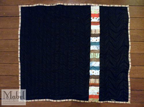 Quilt #5: Noah's Stripey Cuddly (Back)