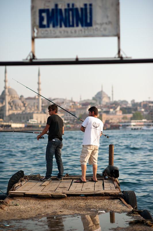 Fishermen in Eminonu