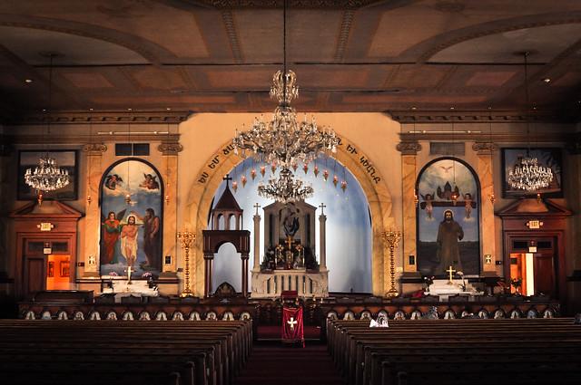 Inside St Mary's Armenian Apostolic church, Glendale