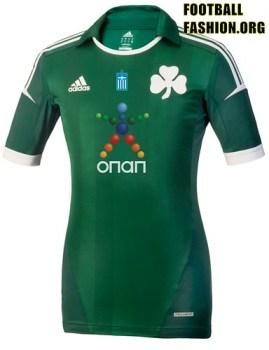 Panathinaikos FC adidas 2012/13 Home Soccer Jersey / Football Kit