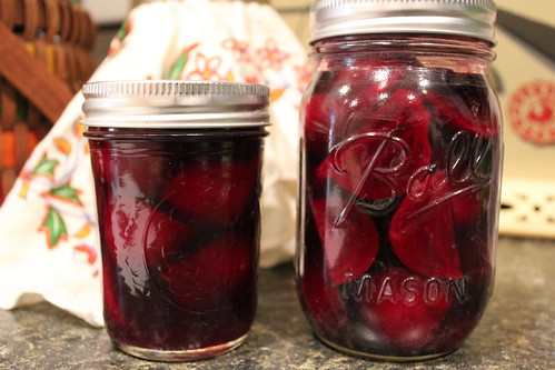 20120609. First ever pickled beets.