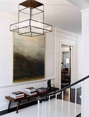 Thom Filicia faceted pendant hall