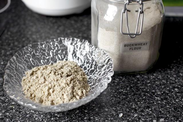 buckwheat flour with ground almonds