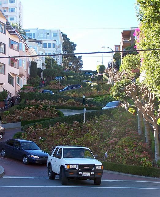 The windy Lombard Street