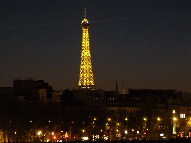 Night Seine Eiffel Tower 2
