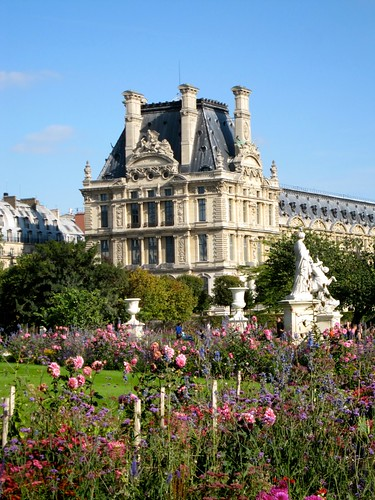 The Louvre from the gardens. by Webminkette