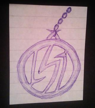 Lightning Bolt Like Symbol Pendant Doodle