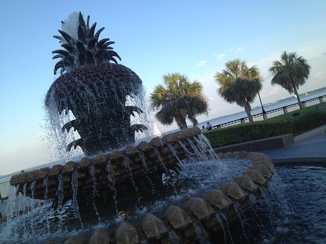 Pineapple Fountain, Charleston Waterfront Park