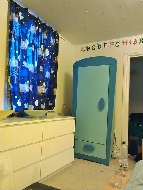 My baby boy wardrobe and nursery-printed curtains