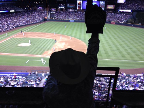 Cowboys cheer the Rockies