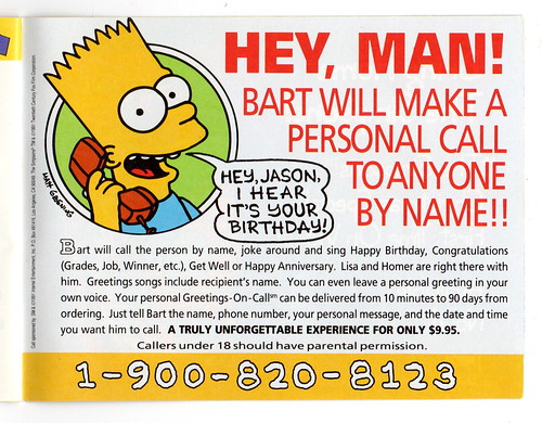 Phone call from Bart