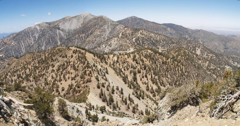 View of Thunder Mountain and Mt Baldy from the Telegraph Peak Summit