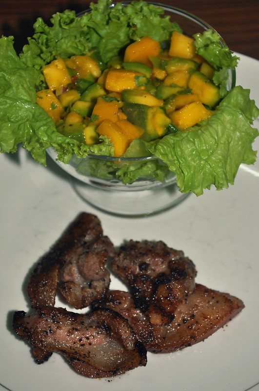 Home-Cooked Grilled Pork with Mango-Avocado Salsa