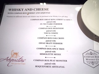Whisky and Cheese Pairing with Compass Box Whisky and Aequitas. Whisky Live Singapore 2012, St. Regis Hotel