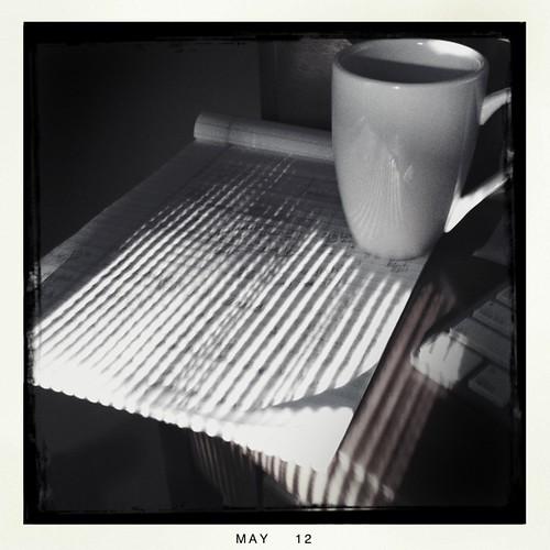 sunshine stripes on my desk