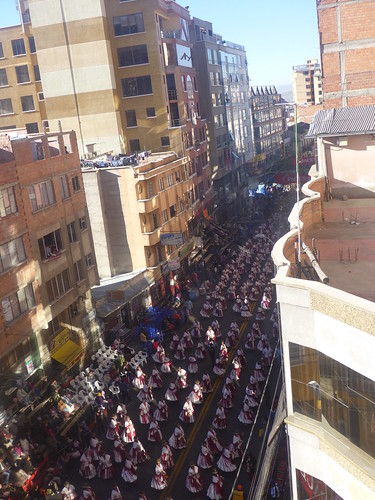 View of the parade from our hotel window