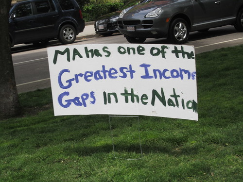 Sign:  MA has one of the greatest income gaps in the nation