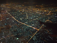 Aerial View of Ho Chi Minh City at night