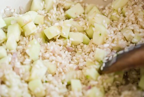 green apple risotto