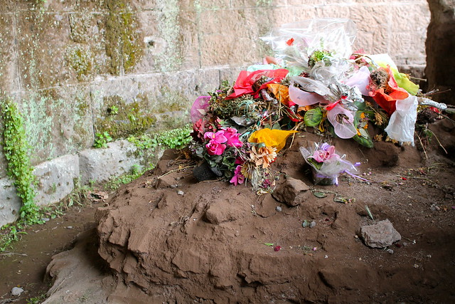 The spot where Caesar was cremated