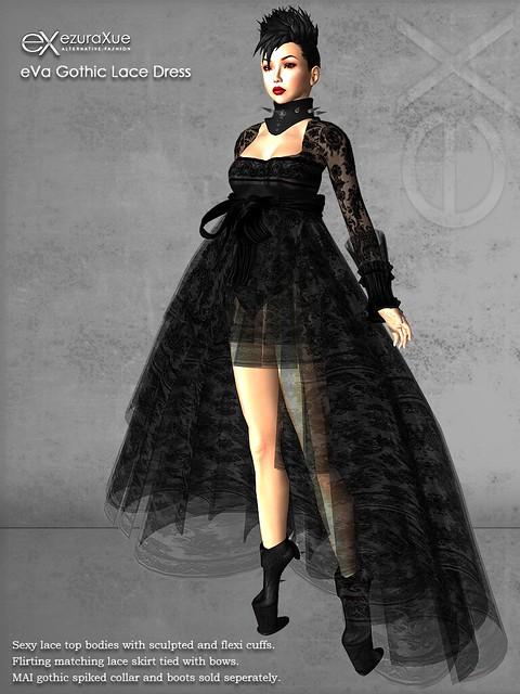 ezura + eVa Gothic Lace Dress
