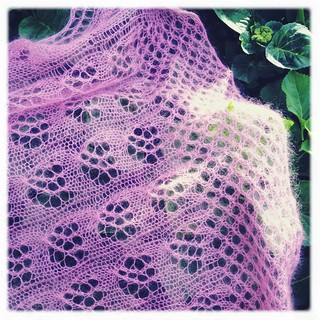 Pink Clouds Shawl