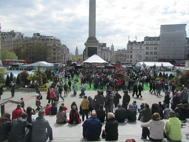 St George's Day celebrations at Trafalgar Square, 21st April 2012