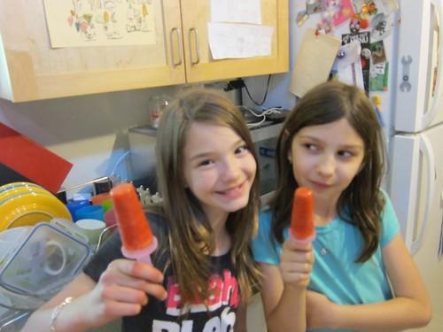 Strawberry Lemonade Chia Seed Smoothie Popsicles