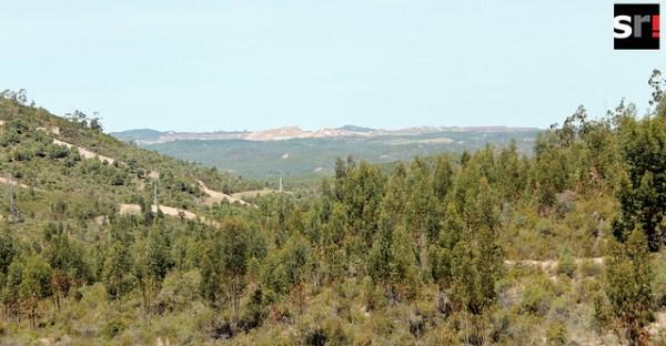 Las minas de Riotinto, divisadas desde Peñas Altas