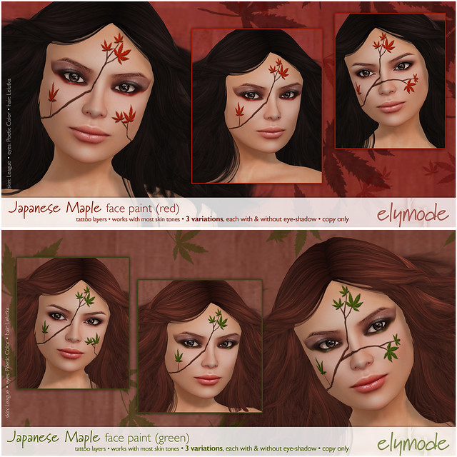 Japanese Maple face paint