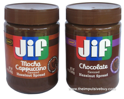Jif Hazelnut Spreads (Chocolate and Mocha Cappuccino)