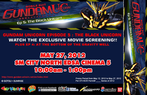 Gundam Unicorn Episode 5 PH Movie Screening at SM North Cinema May 2012 (2)