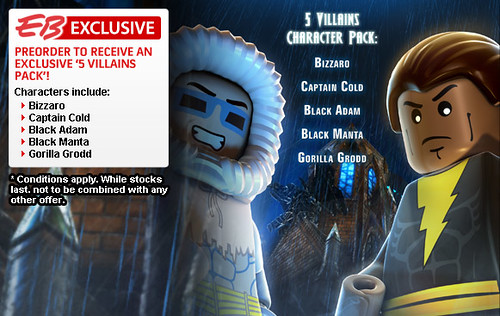 EB Games Offers LEGO Batman 2 'Exclusive 5 Villains Character Pack'