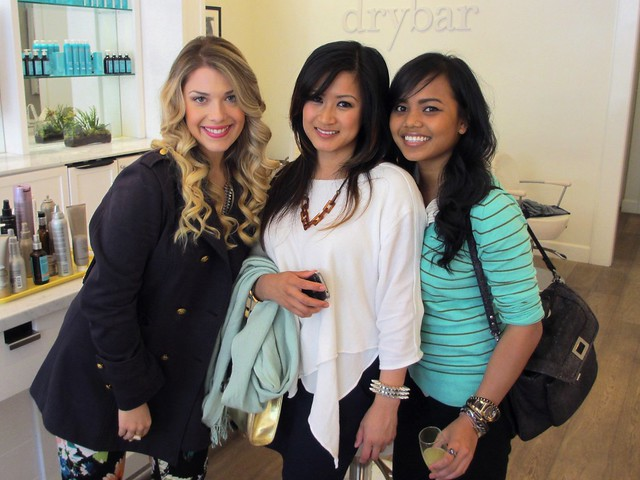 Lauren, Jen, and Kelly looking gorgeous at Drybar
