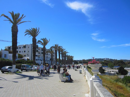 """the """"boardwalk"""" in tunis"""