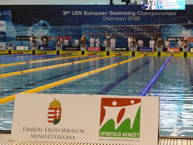 Women's 100 free heat 6 at Debrecen 2012