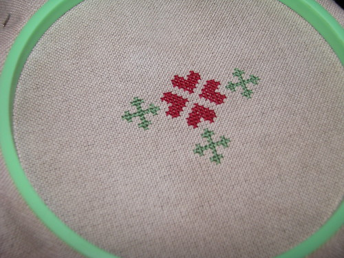 started stitching a new ornament