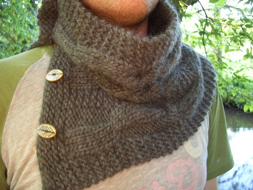 Happy Grey Solitude Cowl