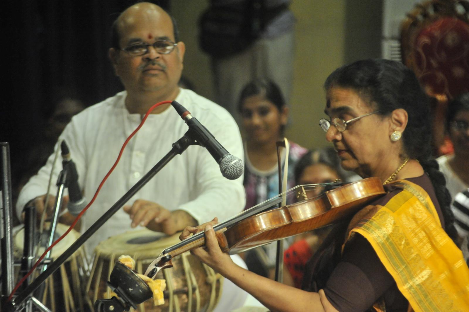 Dr. N Rajam performing Hindustani Music; equally good at Carnatic too