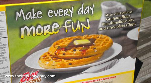 Kellogg's Limited Edition Eggo Seasons S'mores Waffles Box Back