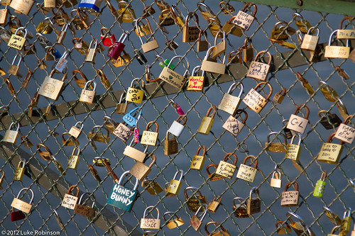 """Love Padlocks"" on the Pont des Arts"