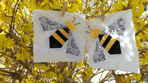 Bitty Bee Blocks! by ruthiequilts