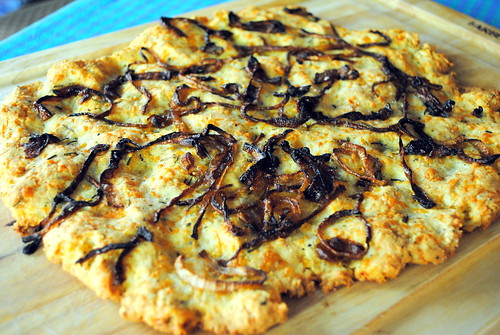 Gluten Free Rosemary & Caramelized Onion Flatbread