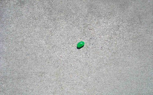 green jelly bean, alone