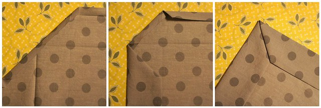 simply charming tablecloth - mitered edge
