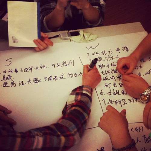 Observing a female equality conference for college students - making a SWOT chart about females overcoming discrimination, China