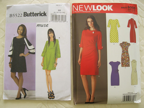 Butterick 5522 and New Look 6000 dresses