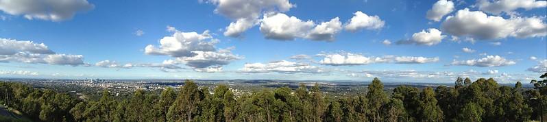 Brisbane from Mt Coot-tha